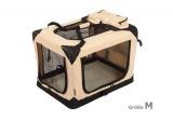 Zvětšit fotografii - Béžová látková přepravka pro psa - kennel