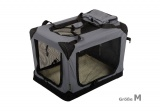 Zvětšit fotografii - Šedá látková přepravka pro psa - kennel