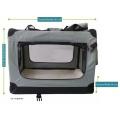 Světle šedá látková přepravka pro psa - kennel XS 50x34x36 cm