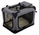 Šedá látková přepravka pro psa - kennel XXL 107x71,2x76 cm