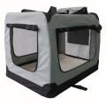 Světle šedá látková přepravka pro psa - kennel M 70x52x50 cm