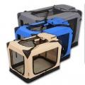 Modrá látková přepravka pro psa - kennel XL 91,5x61x68,6 cm Jespet