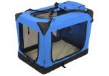 Modrá látková přepravka pro psa - kennel XXL 107x71,2x76 cm