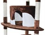Detail škrabadla pro kočky v hnědo bílé barvě