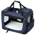Modrá látková přepravka pro psa - kennel S 60x40x40 cm