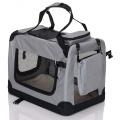 Světle šedá přepravka pro psa - kennel XL 92x64x64 cm