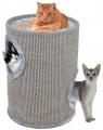 Škrábací obytný válec pro kočky Camelie S šedé 50 cm