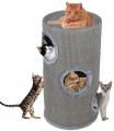 Škrábací obytný válec pro kočky Camelie šedé 70 cm