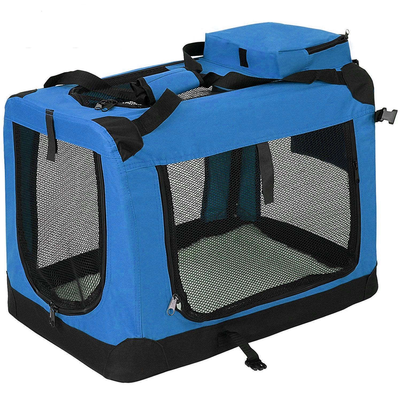 Modrá kennelka M pro psy