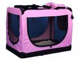 Růžová přepravka pro psa - kennel XL 90x61x65 cm